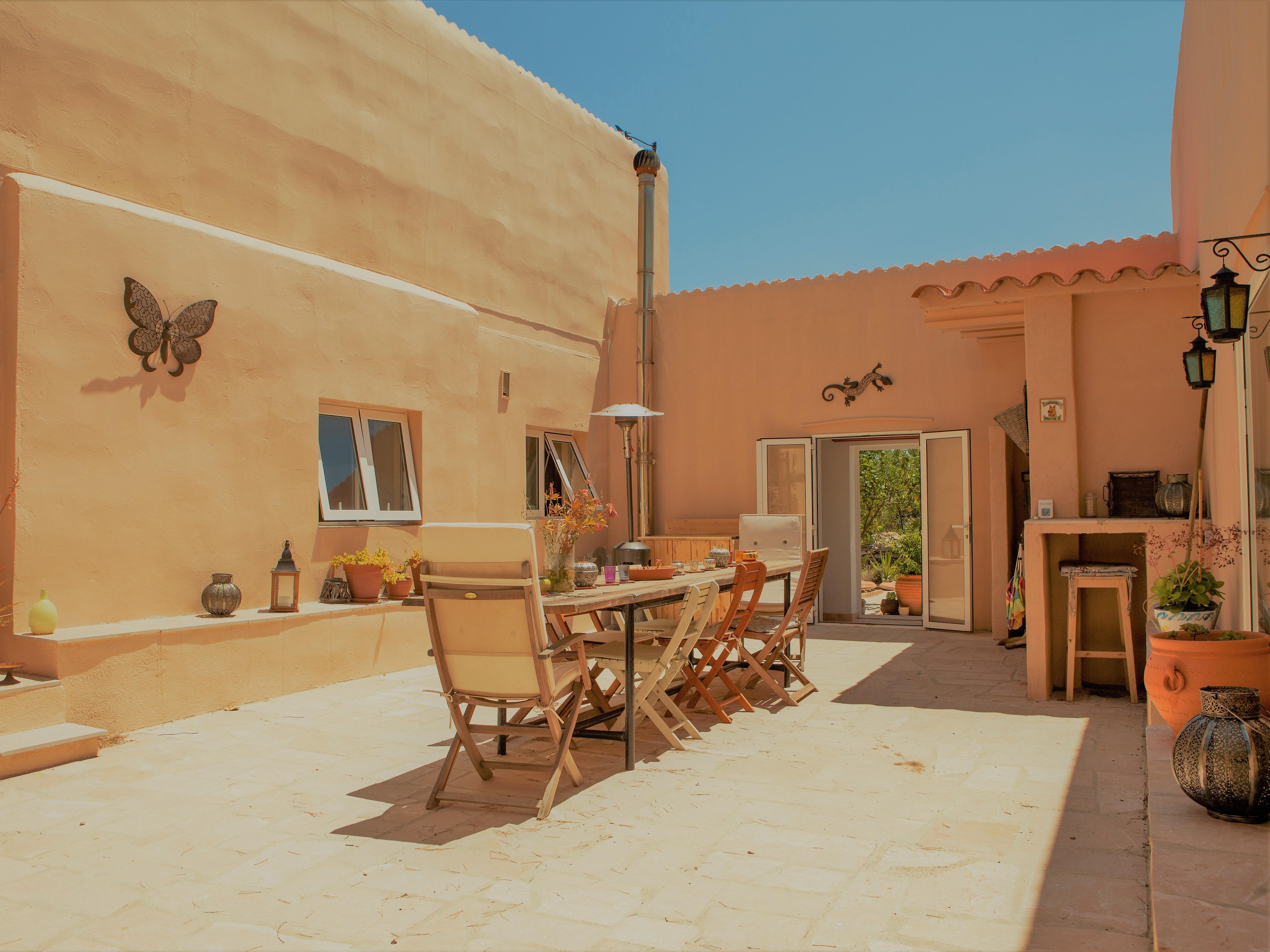 Patio bij Vakantiehuis Casa Espinal in Spanje, te huur via 123casitas